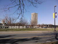 I took this photo of the SUNY Albany campus during a rare daytime run in December.  Don't tell my boss: I snuck away at lunchtime.  Beleive me, it's not this nice in the dark at 20 degrees.  The Saratoga Skier and Hiker, first-hand accounts of adventures in the Adirondacks and beyond, and Gore Mountain ski blog.