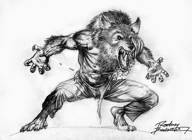 Panten de Juda Dibujos de hombre lobo