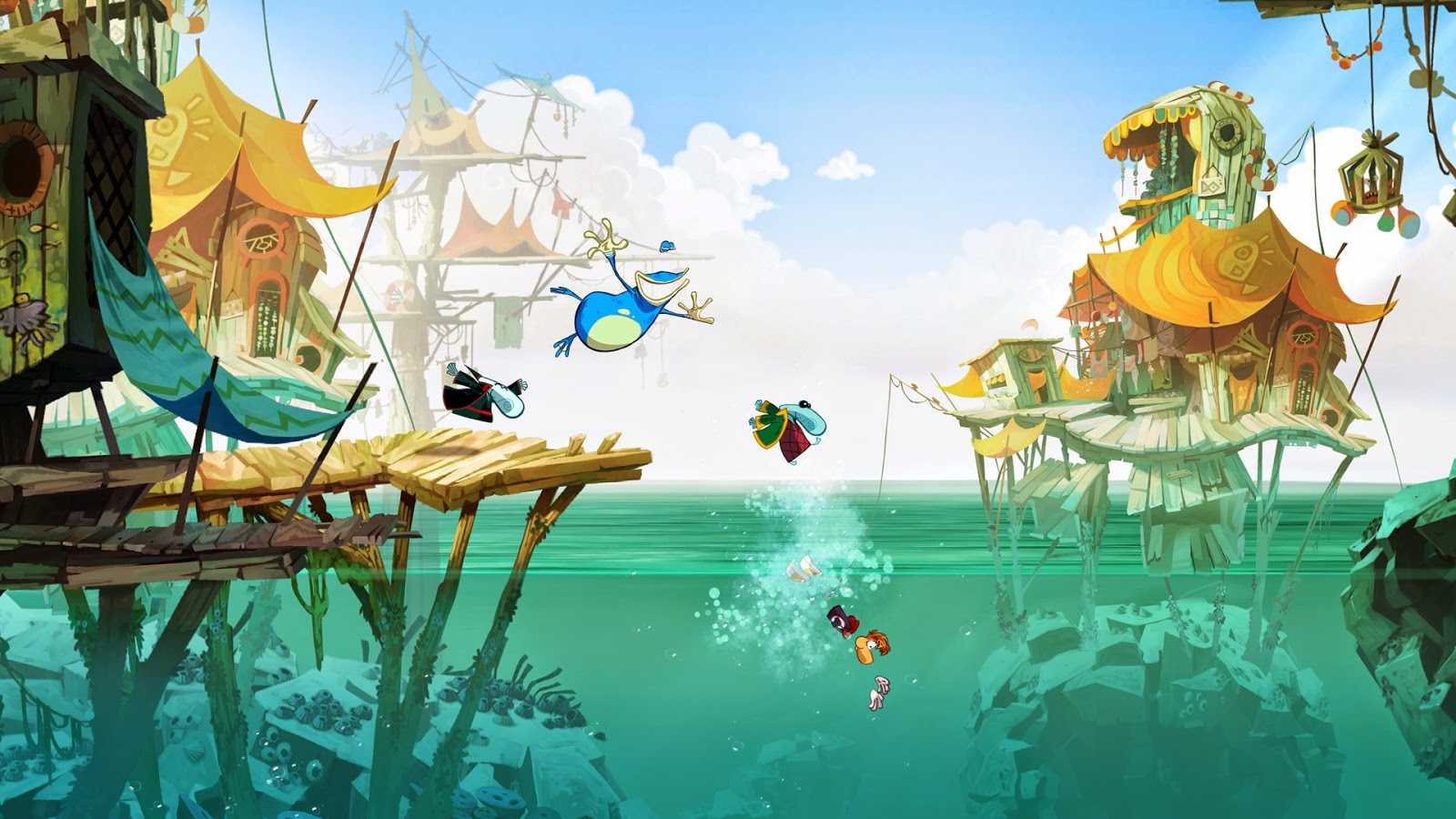 Rayman origins screenshot of port