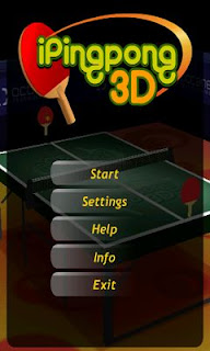 Screenshots of the Ipingpong 3D for Android tablet, phone.