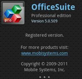 OfficeSuite Pro 5.0.509