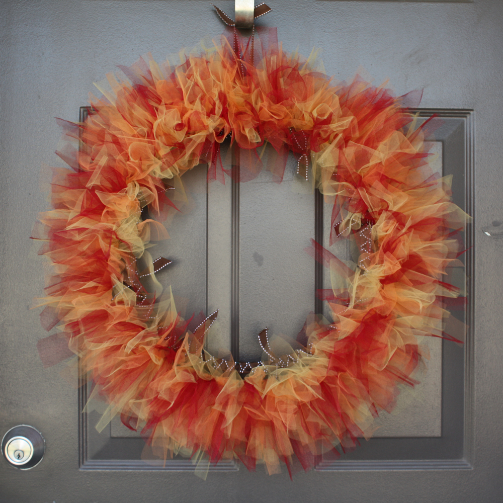 Tuesday Tutorial Tulle Autumn Wreath Amy Cornwell