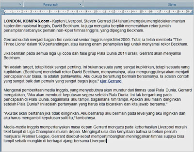 Find and Replace dalam microsoft word