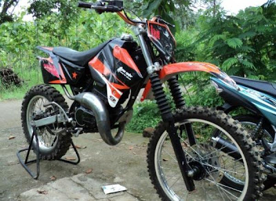 yamaha rx king modifikasi trail