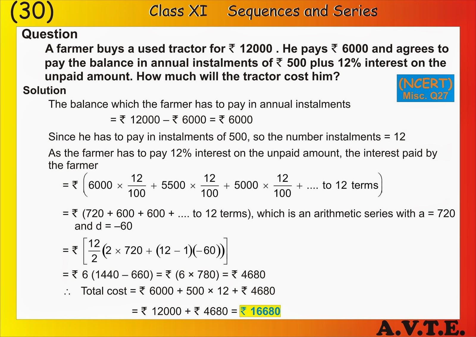 Maths4all Sequence Series