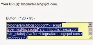 Memasang Widget Alexa Tersembunyi dan Menaikkan Rank Alexa