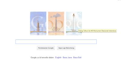 Ultah Monumen Nasional Ke 40 di Peringati Google Doodle