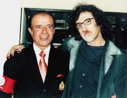 Carlos Menem junto a Charly Garcia