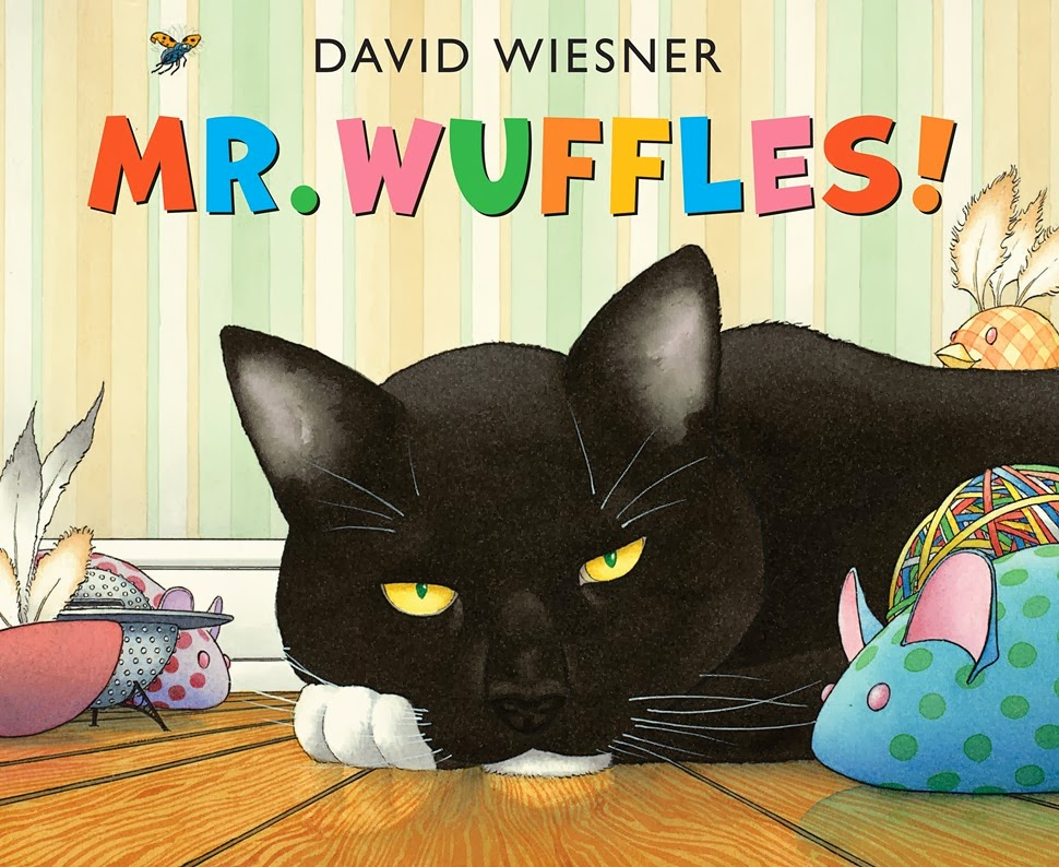 Mr. Wuffles! a wordless picture book is a 2014 Caldecott Honor book.  I gave it 3.5 stars.  Here's my review. Aloharmora Open a Book: http://alohamoraopenabook.blogspot.com/