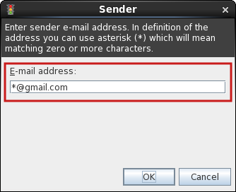 Sender email address.