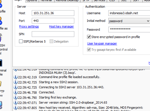 Free SSH Server Indonesia Support UDP 31 Oktober 2014
