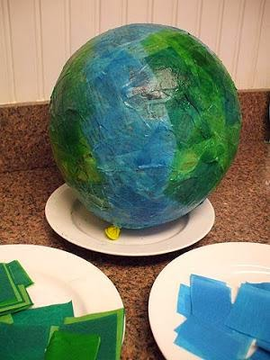http://www.mpmschoolsupplies.com/ideas/2652/paper-mache-globes-for-earth-day/