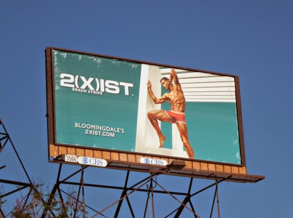 2Xist Beach Stripe underwear billboard