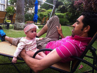 Umar Gul with her cute little Daughter