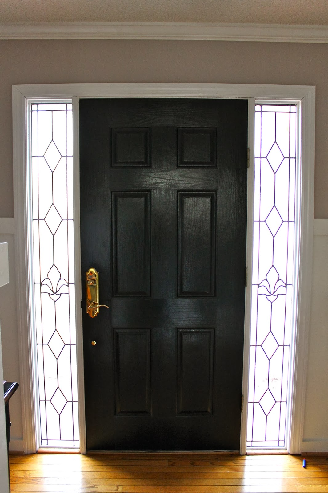 1600 #A97622  Like The Way The Black Picks Up On The Leaded Glass Sidelights picture/photo Painted Front Doors With Sidelights 41891066
