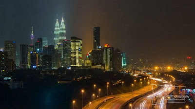 Timelapse Kuala Lumpur siang malam oleh Rob Whitworth