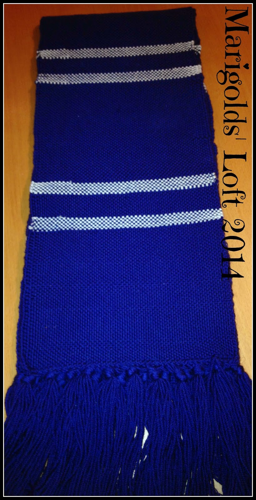 ravenclaw scarf rigid heddle