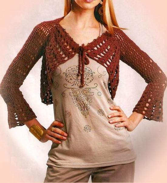 Crochet Sweaters Crochet Shrug Free Pattern Stylish And Easy