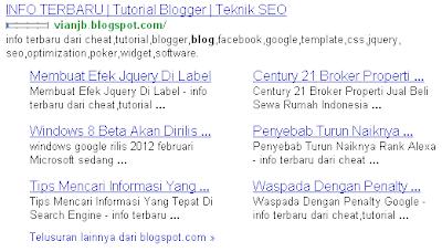google sitelink seo
