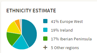 41% Europe West, 19% Ireland, 17% Iberian Peninsula, 5% Other