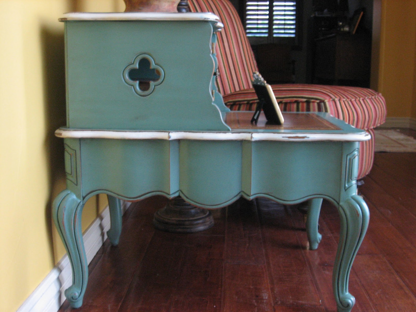 European Paint Finishes: ~ Pair of French Provincial End Tables