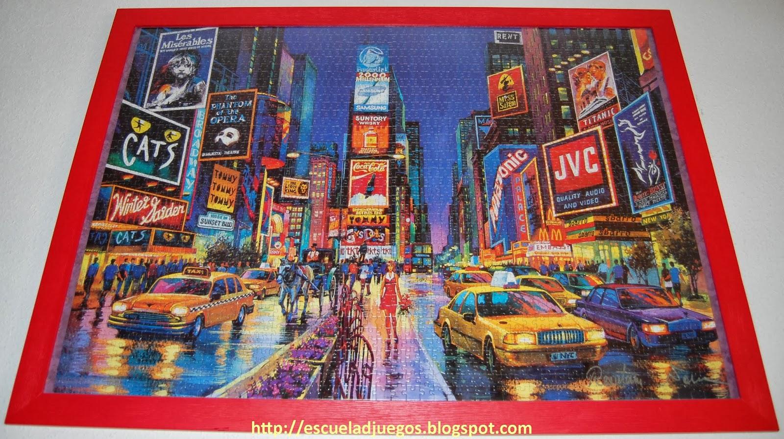 Puzzle de 2000 piezas de Educa con una pintura de Times Square