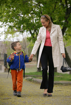 NAMC choosing a montessori school for your child mother walking with son