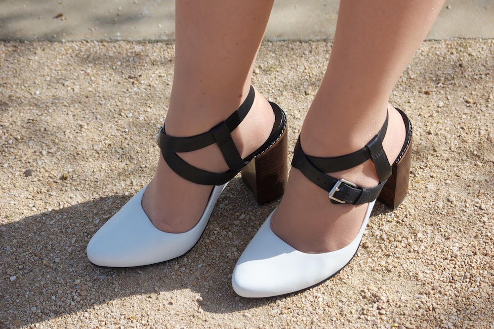 clarks crumble spice heels shoes ss15 black and white