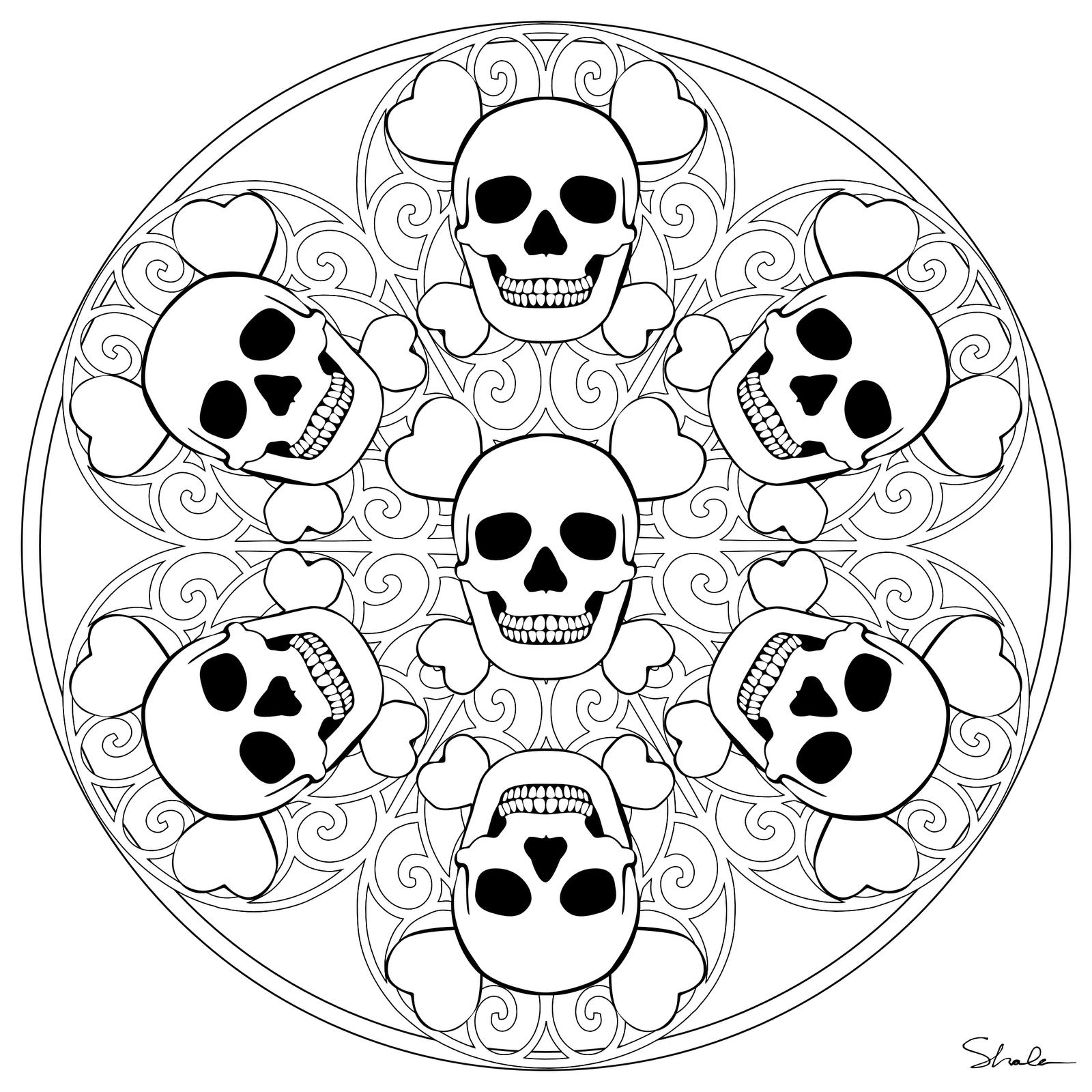 Mandala coloring pages halloween mandala coloring pages