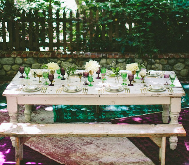 woodland inspired wedding reception