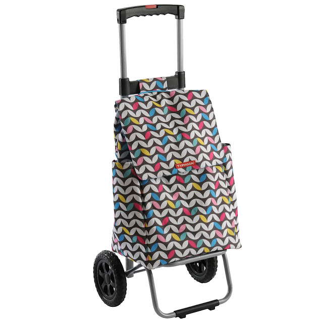 Multi-coloured Debenhams shopping trolley