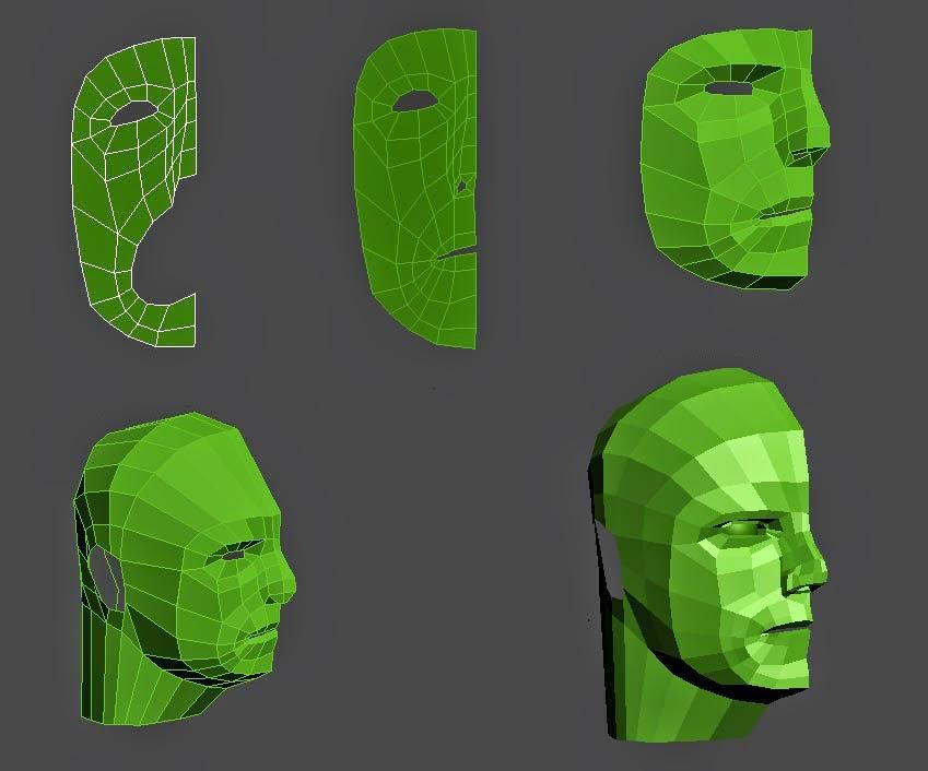 Modelado del personaje: cabeza