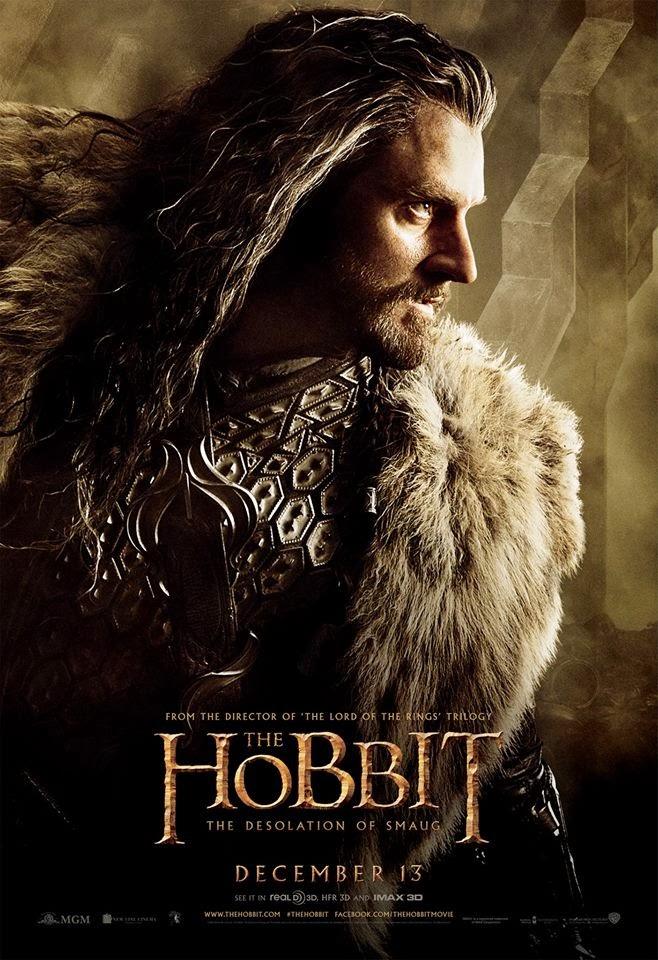 El Hobbit: la Desolación de Smaug - poster final Thorin