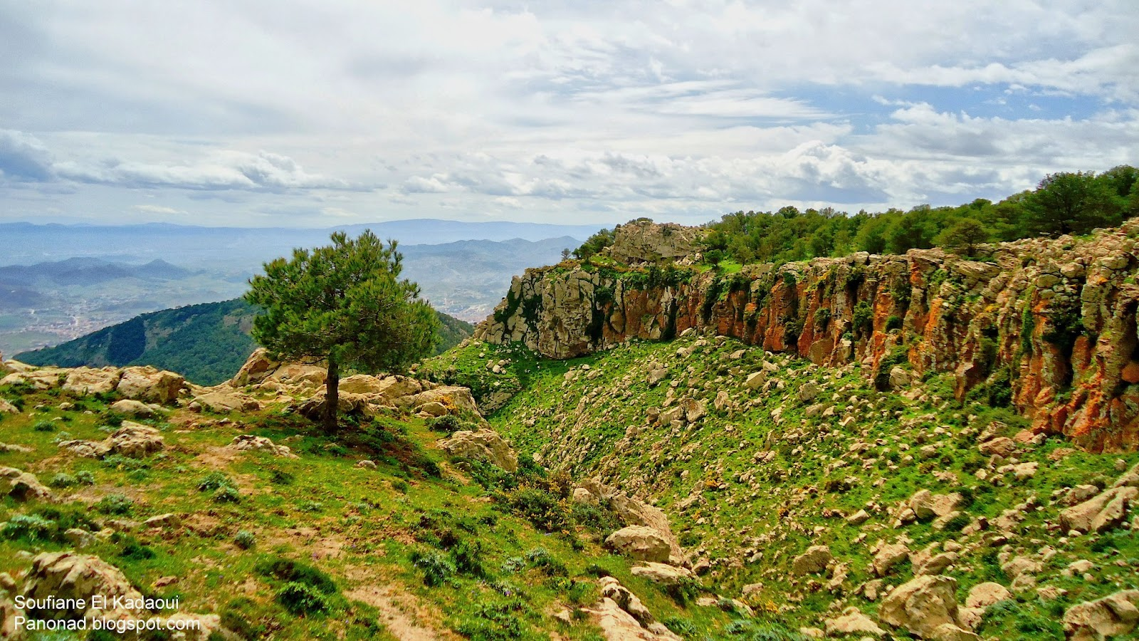 Panorama de Nador بانوراما الناظور: من منتزه كوروكو . Le