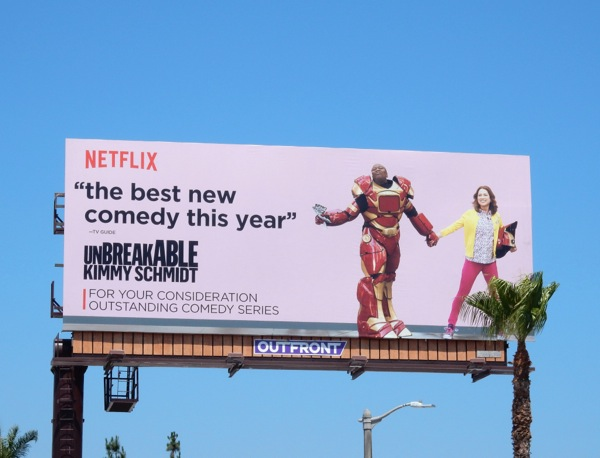 Unbreakable Kimmy Schmidt 2015 Emmy billboard