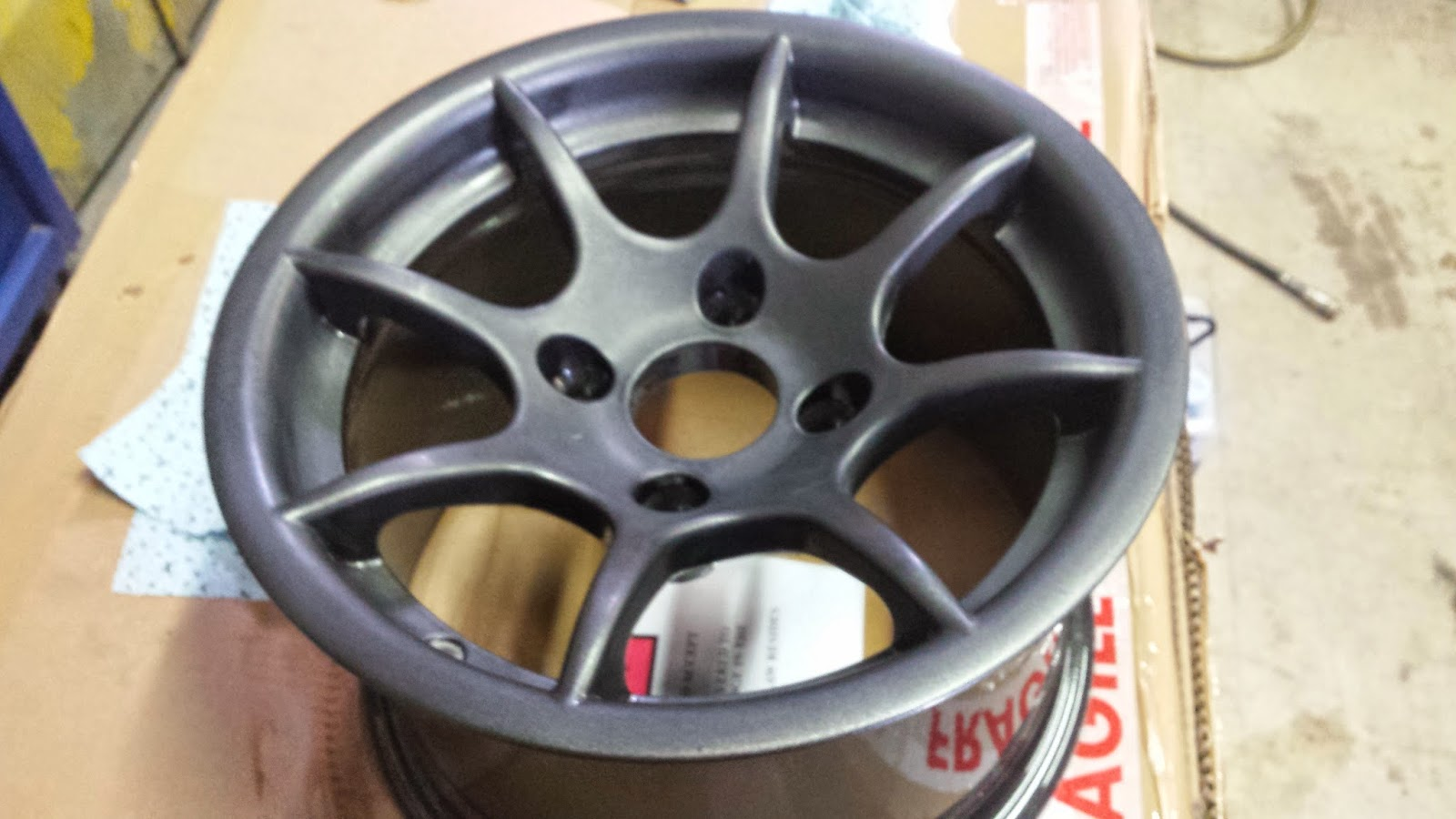 8 spoke wheel after flattening with 1500 grit superfine wet and dry