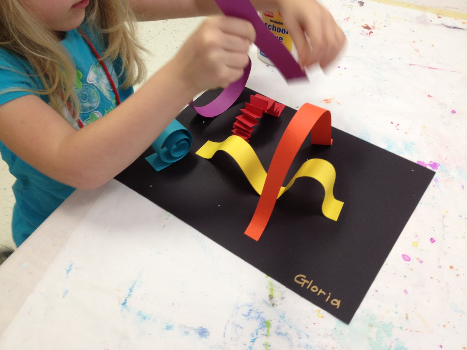 Color for everyone kindergarten roller coasters - Colored paper art projects ...