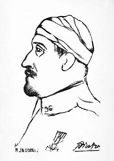 Retrato de Guillaume Apollinaire por Pablo Picasso