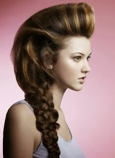Pompadour Ponytail Hairstyle