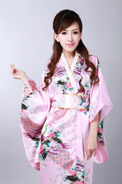 Dress Model Kimono Jepang Cantik Warna Pink