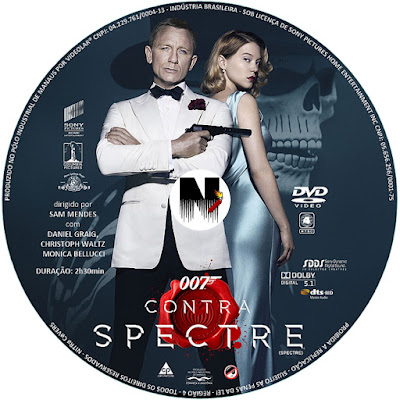 Label DVD 007 Contra Spectre