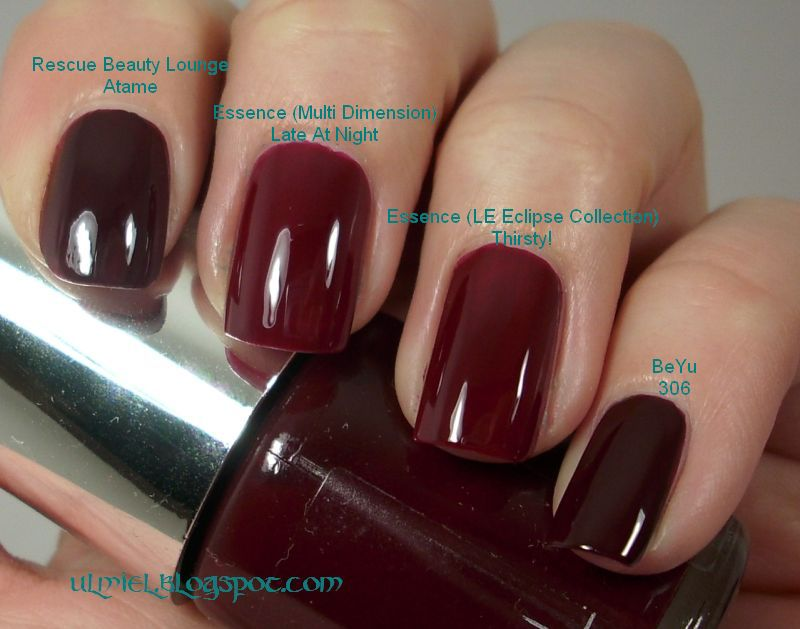 Did Someone Say Nail Polish Red Comparison Week 2nd Day Dark Wine Blood Reds 4