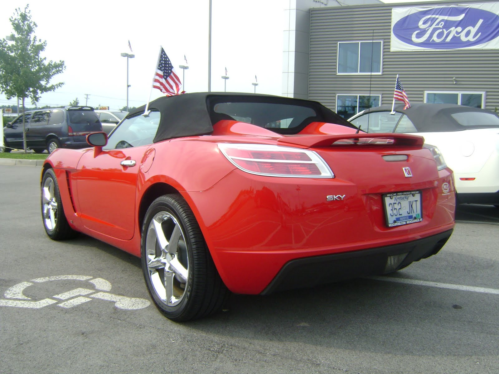 My New Workplace Career Spot Wildcat Ford Lincoln(fingers Crossed), And My  First Car Of The Week. This 2008 Saturn Sky Convertible, Two Seater Thrill  Ride ...