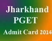 JharKhand PGET 2014