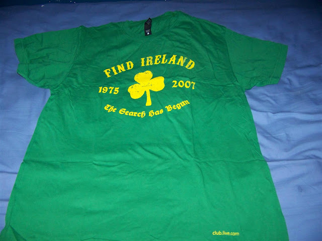 Live Search Club Mens Green Ireland T-Shirt