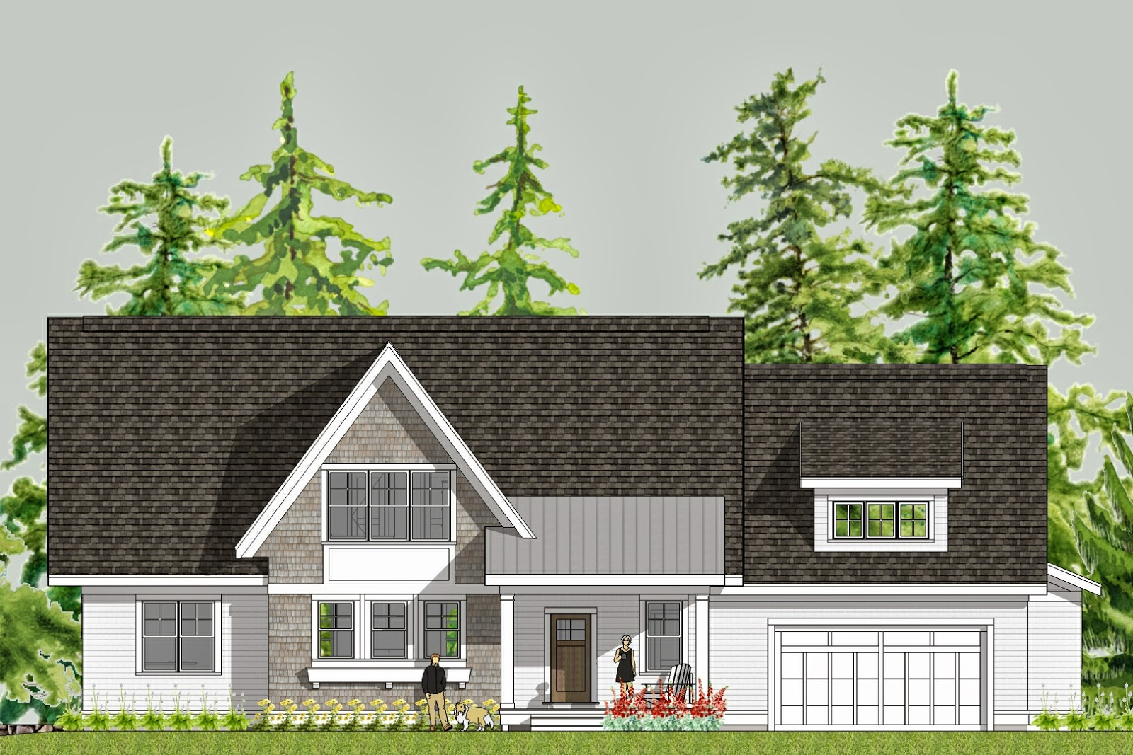 Front Elevation. Crisp And Clean. Modern Yet Homey. Simple Yet Elegant!