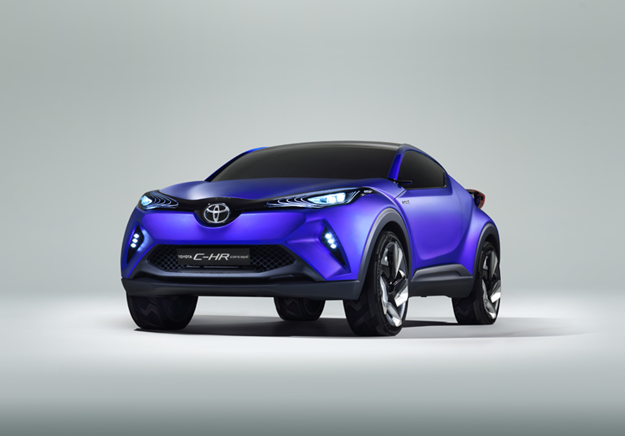 this is toyota 39 s c hr sporty compact crossover concept carscoops. Black Bedroom Furniture Sets. Home Design Ideas