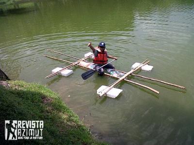 Como construir una balsa con bambu revista azimut for Como hacer una laguna