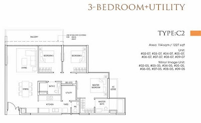 Goodwood Grand 3 bedrooms Floor Plans