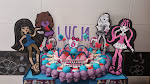 TARTA MONSTER HIGH REDONDA